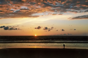 2002: Sonnenuntergang - Doheny State Beach Park.