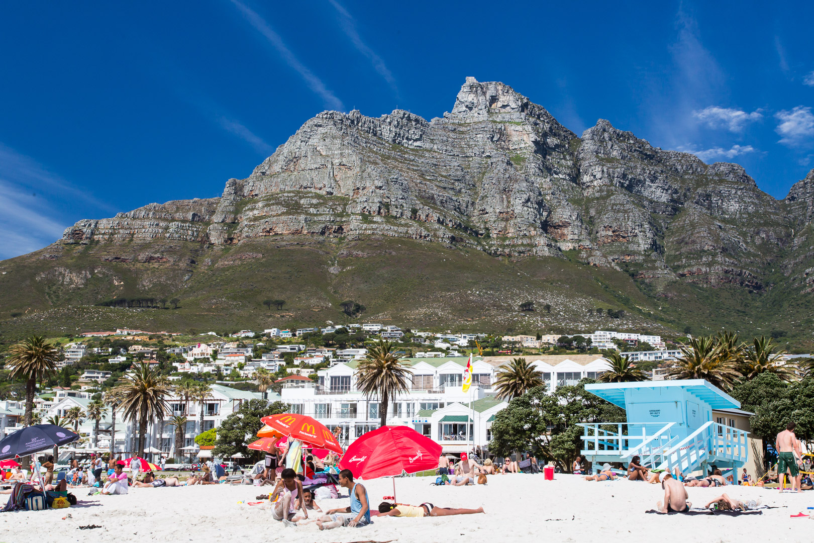 27.10. Baden in Camps Bay. Lions Head.