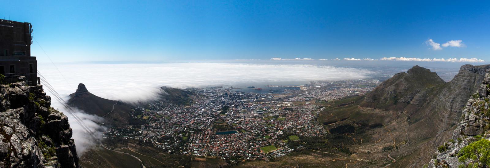 28.10. Tafelberg - Blick auf Kapstadt