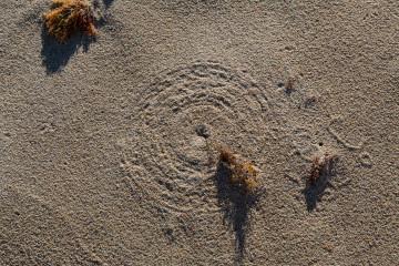 30.10. Struisbaai - vom Wind erzeugte Zirkel !