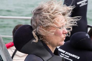 1.11. Kleinbaai - White Shark Cage Diving. Seekrank :-(