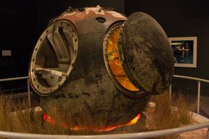 2006: Original der Sputnik Kapsel (die Aulösung des Suchbilds ;-)