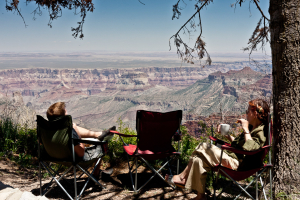 14.-16.6. Grand Canyon - Roosevelt Point: Picknick :-)))
