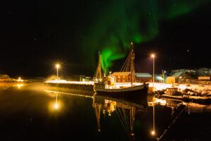 10./11.2.2013 Laukvik - Top-Shot: hell flackernde Nordlichter :-)