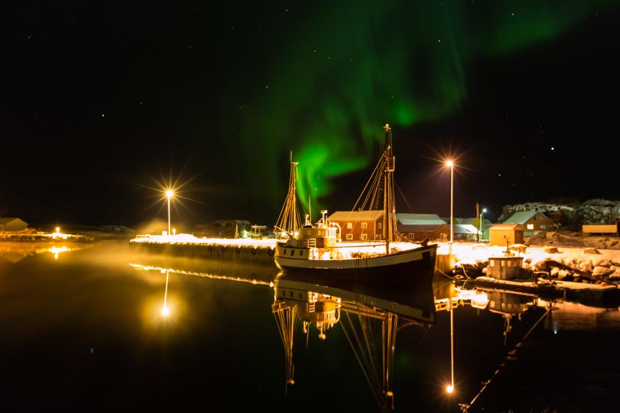 10./11.2. Laukvik - 3 Top-Shots: hell flackernde Nordlichter :-)