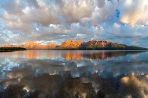 23.7.2014 Jackson Lake & Grand Tetons - Sonnenaufgang