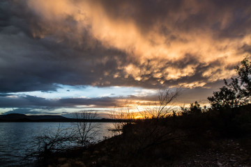 23.7. Flaming Gorge SP - Sunset