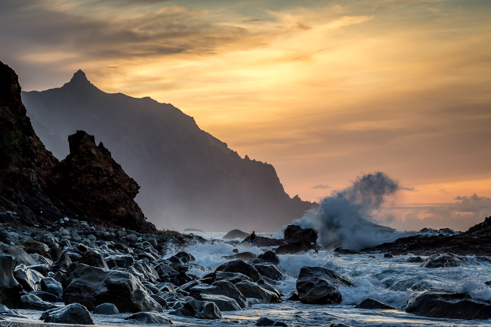 13.11.2014 Sonnenuntergang Benijo Beach