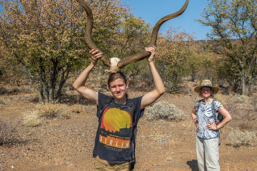 2.8. Wanderung bei den Ugab Terraces - Kudu-Horn.