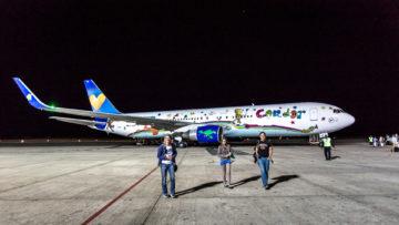 """8.8. """"Unsere"""" Boing 767, Condor von Windhoek nach Frankfurt"""