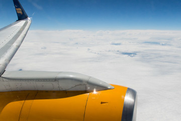 8.7. Über Grönland auf dem Flug nach Denver