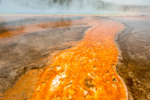 21.7. Midway Geyser Basin - Grand Prismatic Spring, Run-off