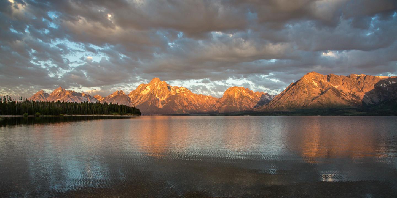 23.7. Jackson Lake & Grand Tetons - Sonnenaufgang