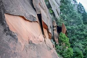Abenteuerlich, der Trail zum Observation point