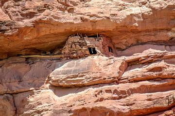 800 Jahre alter Kornspeicher der Anasazi am Escalante River.