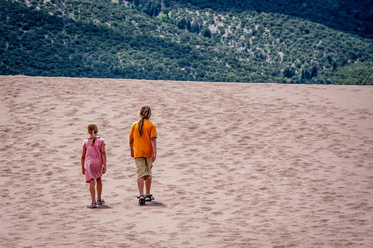 21.-24.7. Great Sand Dunes - Besteigung der High Dune