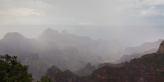 31.7. Grand Canyon North Rim - Regensturm im Canyon