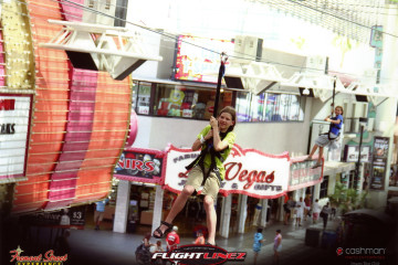 4.-6.8. Las Vegas - Flightlinez in der Fremont Street