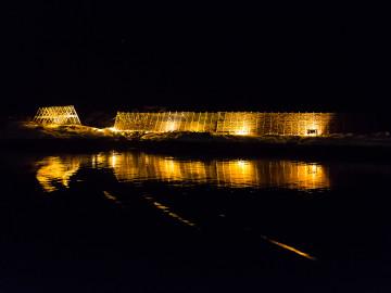 11.2. Hurtigruten mit der MS Lofoten - Stockfische im Hafen