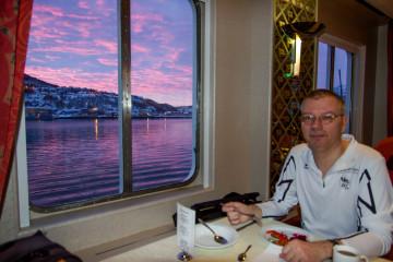 12.2. MS Richard With, Hurtigruten - Frühstück :-)