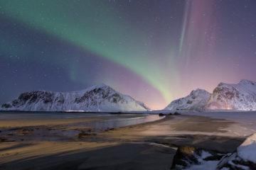 14.2. Skagsandenbeach - zunächst normale Nordlicht-Bänder
