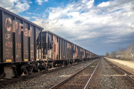 20.10.2014 - Train in Golden, BC