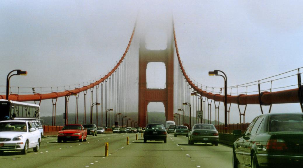 Fahrt über die Golden Gate Bridge.