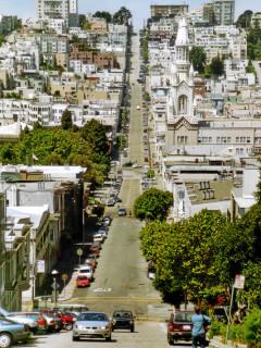Die Straßen von San Francisco.