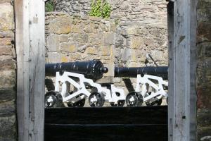 Kanonen des Dartmouth Castle