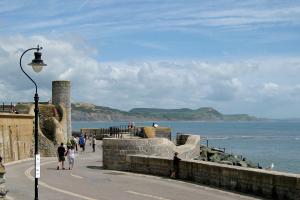 Mittagspause in Lyme Regis