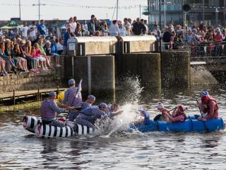 25.7. West Bay - Raft Race
