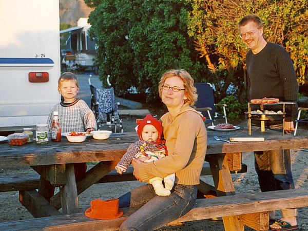 Grillen in der Abendsonne
