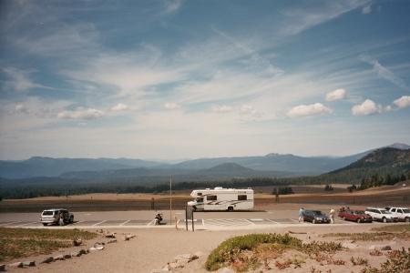 Crater Lake NP - Blick über die mit 500m Asche gefüllte Ebene