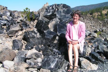 Newberry Crater in Oregon - der Obsidian-Lava-Flow.
