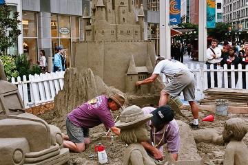 Seattle - Sandburgen-Wettbewerb