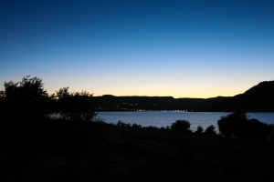Sonnenuntergang über dem Lake Roosevelt