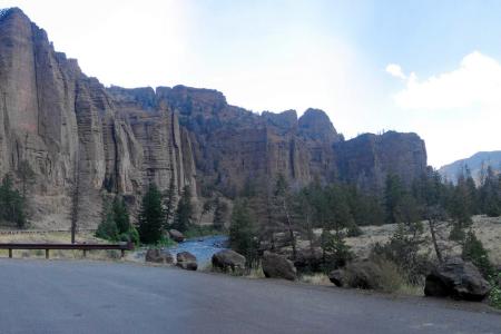 Shoshone Canyon, die Westausfahrt des Yellowstone.