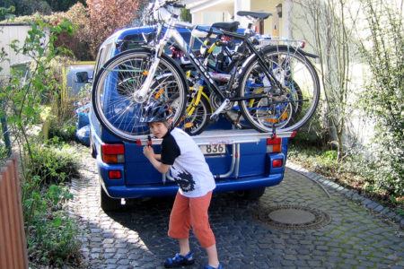 Die Räder sind aufgeladen ... es geht los zum Startpunkt nach Nordhorn.