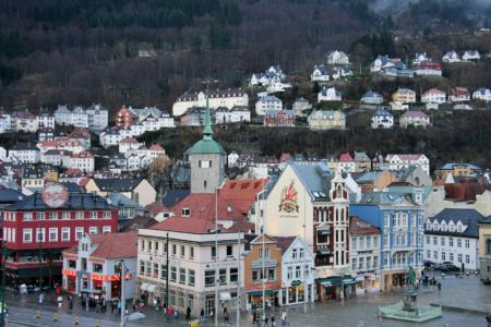 Die Altstadt von Bergen