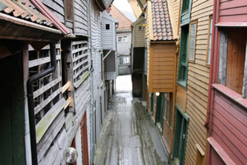 Gasse im Bryggenviertel