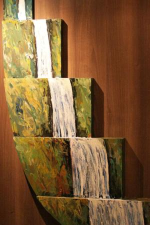 Kunst auf der MS Trollfjord: Wasserfall 2