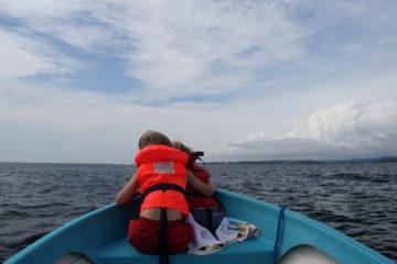 Bootsausflug nach Risor - zweimal 10km übers Meer.