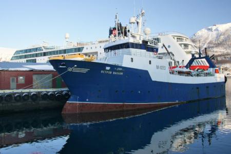 Tromsø: Russischer Trawler, noch gut erhalten.