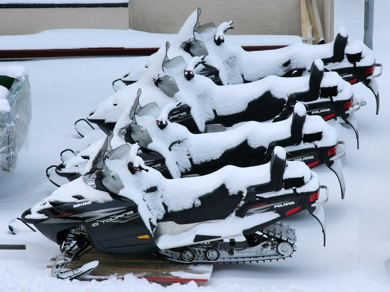 Schneescooter in Hammerfest