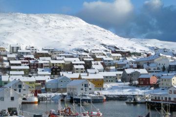 Honningsvåg - der Hauptort der Insel, ca. 4000 Einwohner.