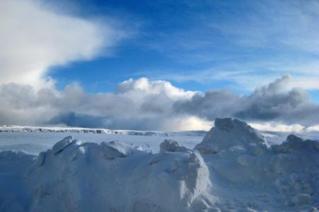 Schneelandschaft am Nordkap