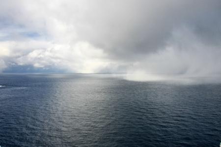 Schneesturm im Anmarsch aufs Nordkap