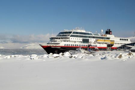 """Ein letzter Blick auf """"unsere"""" MS Trollfjord."""