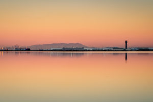 21.10.2016 - Flughafen Oakland, von San Leandro Marina aus. (27s @f/8)