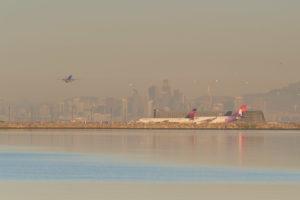 21.10.2016 - Flughafen Oakland, von San Leandro Marina aus.
